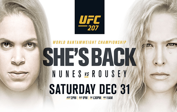 Image result for ufc 207 poster