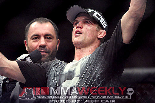 Evan Dunham and Joe Rogan at UFC 119