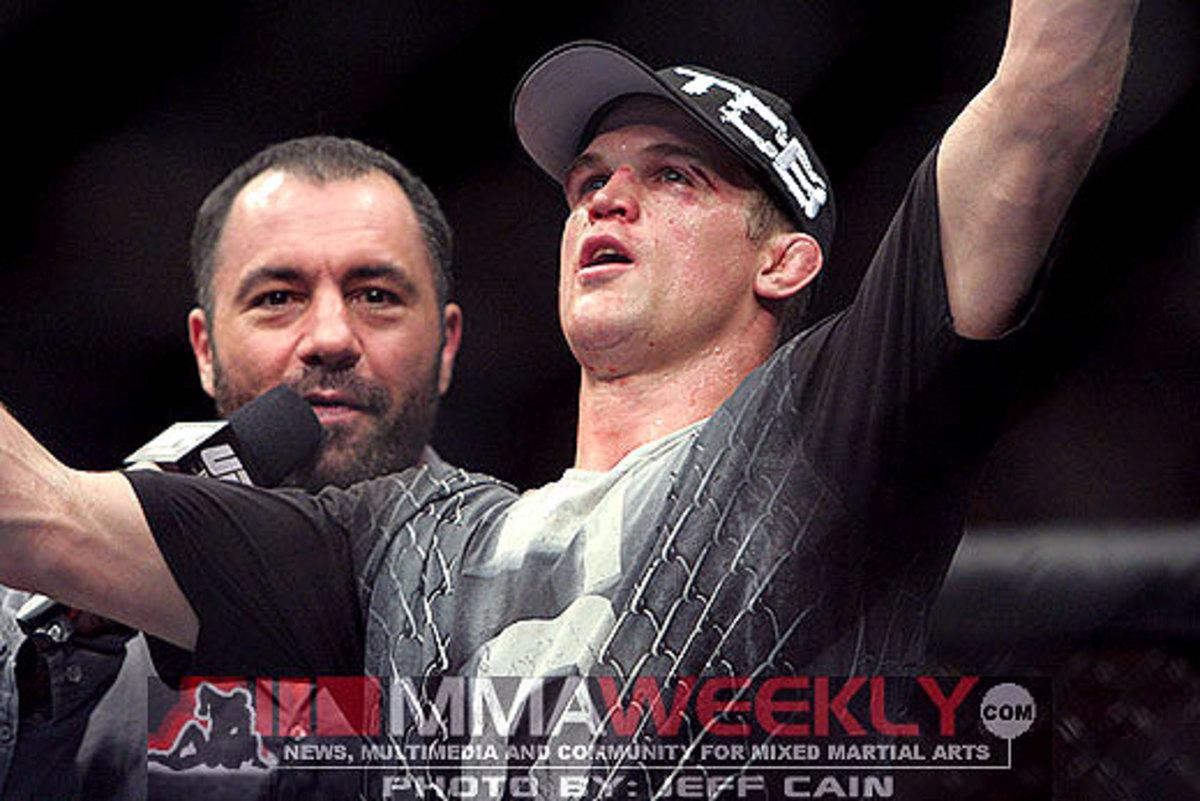 Evan Dunham and Joe Rogan at UFC 119