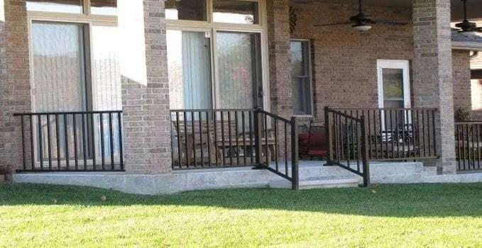Parts Of A Railing System Mmc Fencing Railing | Aluminum Railings For Front Steps | Budget Porch | Concrete | Construction | Wood | Modern