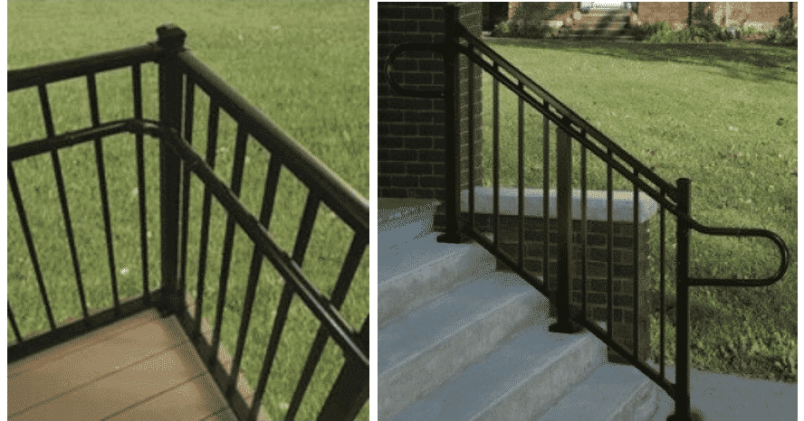 Ada Compliant Handrails Mmc Fencing Railing | Ada Compliant Wood Handrails | Accessible Ramp | Wooden Ramp | Commercial | Stair | Deck