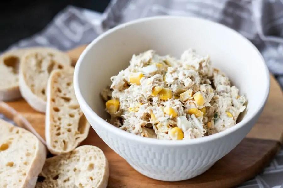 Pasta z makreli z kukurydzą