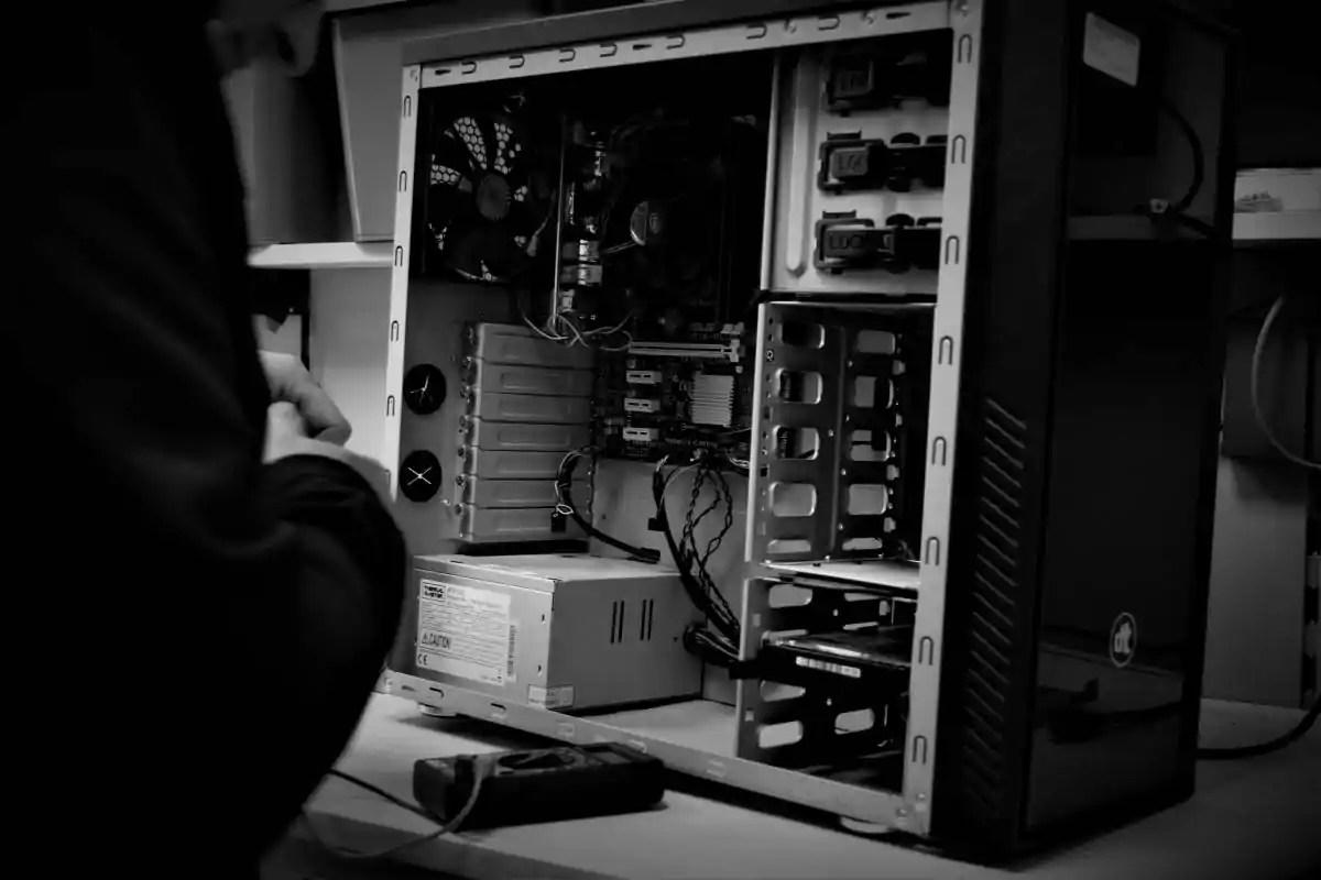 Desktop in aanbouw