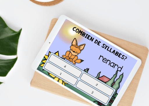Combien de syllabes: French Syllables Boom Cards