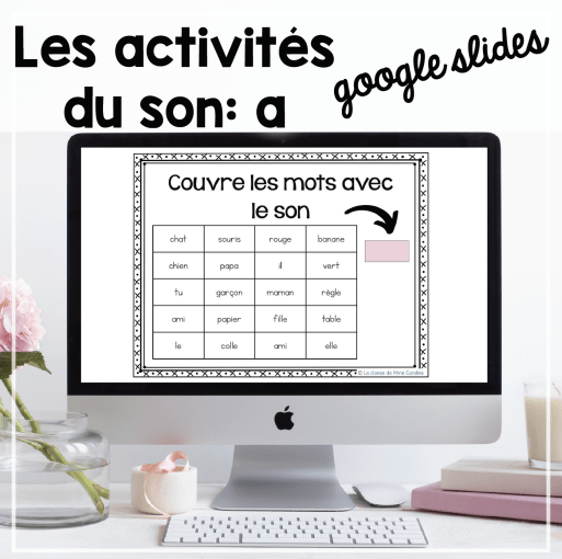 Free french sound activities for google slides