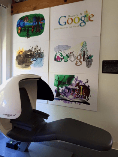 "The Google ""energypod"" ensures a rested employee is a productive employee."