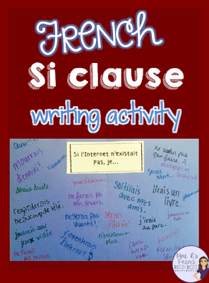 Engaging French writing activity using si clauses with the conditional tense.