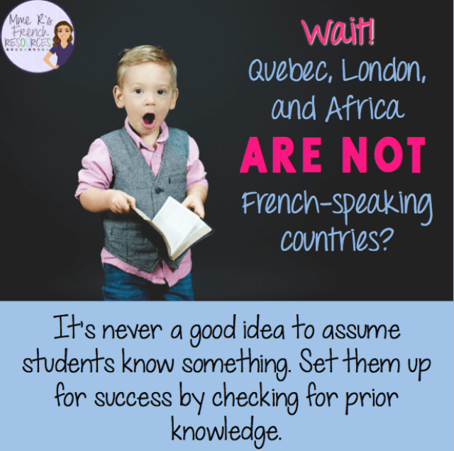 Assess your students for prior knowledge to set them up for success.