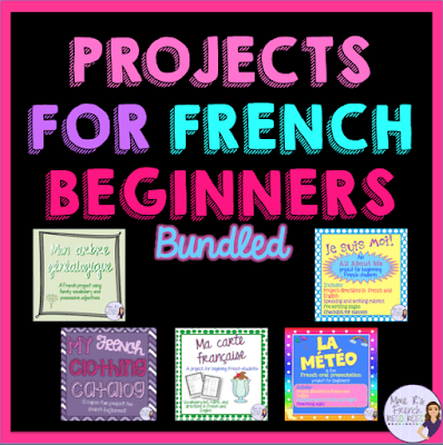 These 5 French projects are a great fit for just about any French 1 curriclum!