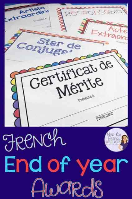 These end of the year certificates for French are the perfect way to celebrate student success with foreign language classes.