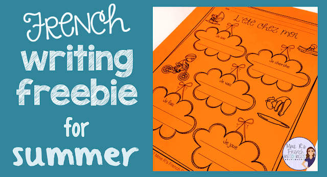 Free-French-summer-themed-writing-activity-for-beginners-immersion-core