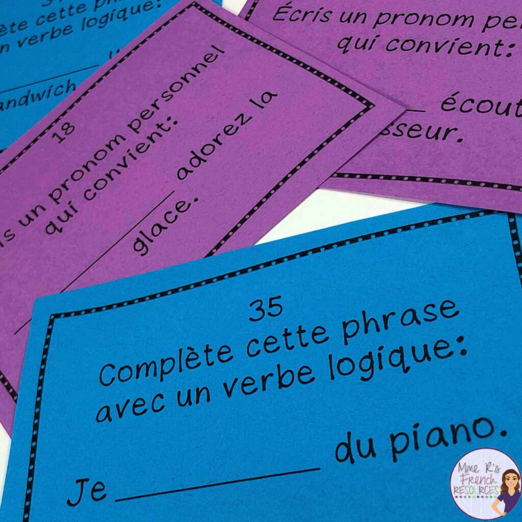 French-er-verbs-game