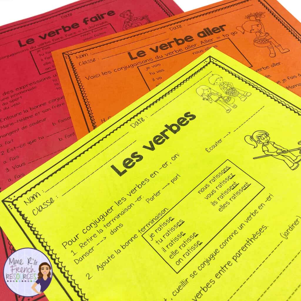 French-fall-verb-activities