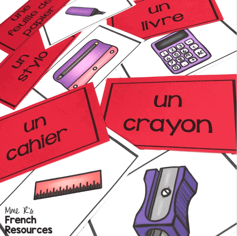 French-school-supplies-game