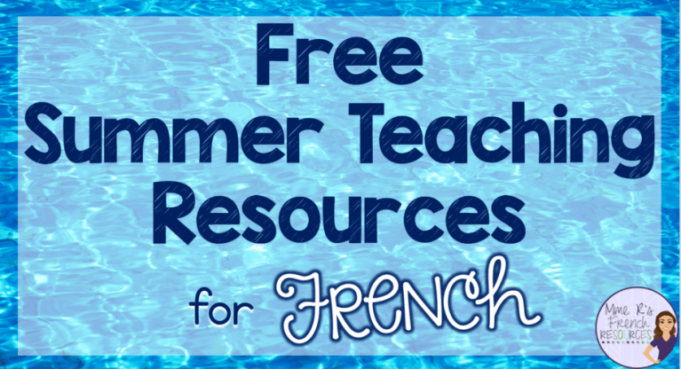 free-french-summer-resources