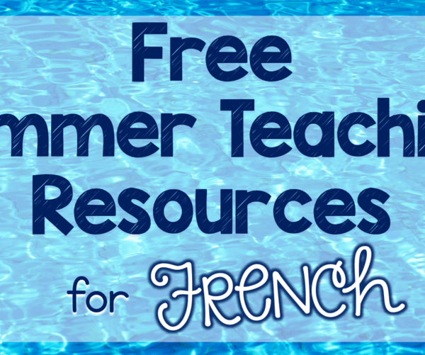 Free French summer teaching resources