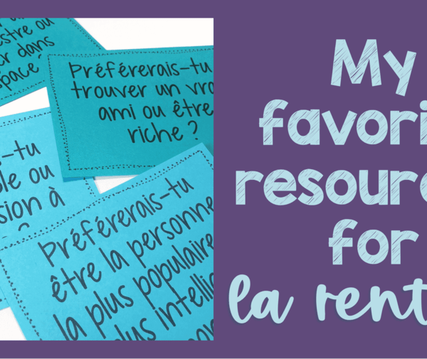 My favorite French back to school resources