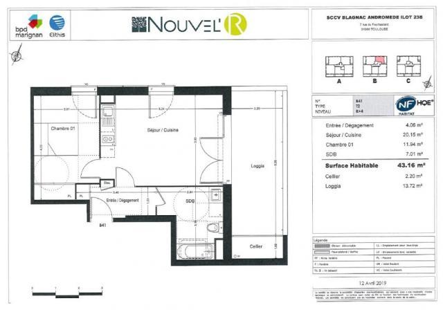 location appartement blagnac 31700
