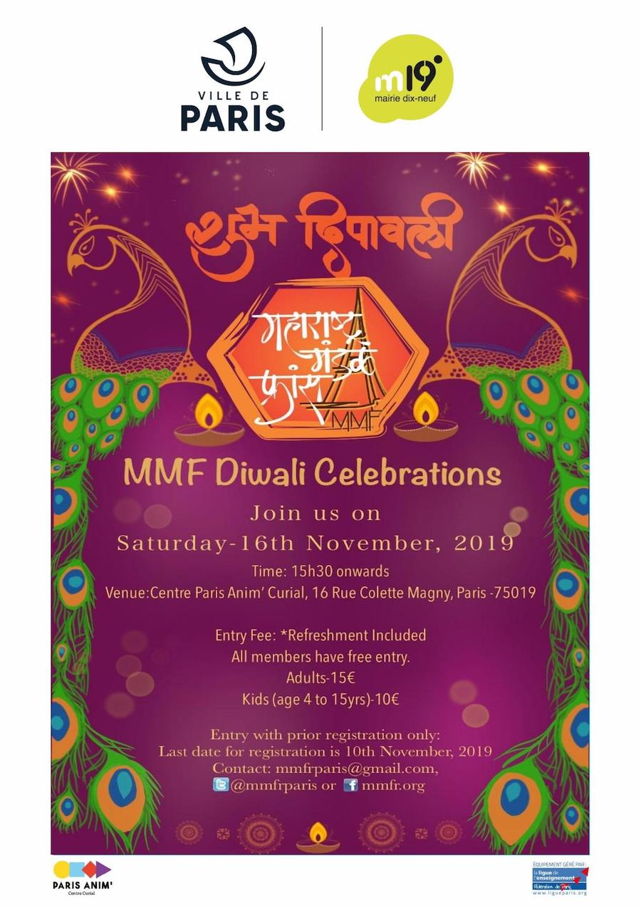 Maharashtra Mandal France MMFR Diwali Celebrations 2019