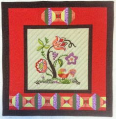 Wall Hanging from Embroidery