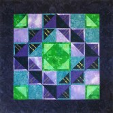 Purple Blue Prairie Points