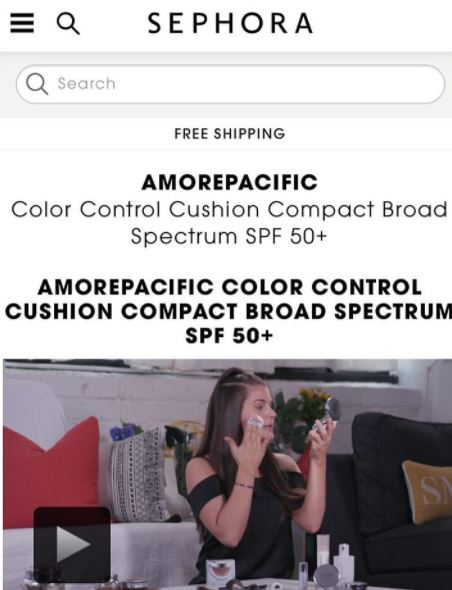 amore pacific sephora video