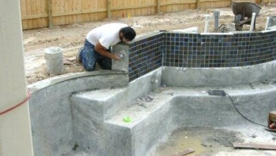 Residential Pool Construction - Tile and Coping
