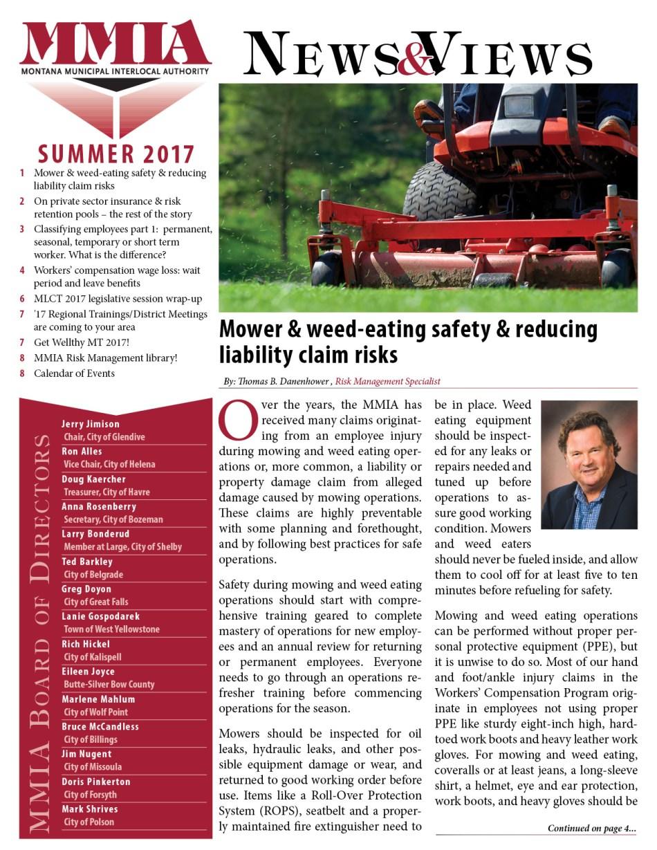 MMIA News & Views - Summer 2017