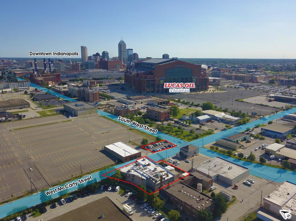 Stadium Lucas Street Downtown Map Oil Indianapolis