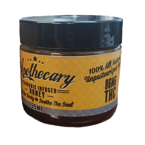 55ml jar of THC-infused Honey.