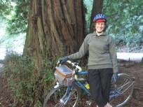 Me & my bike, next to a tree.