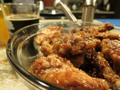 and for din, he made us YANGNYUMCHICKEN. instant status as my fave korean ahjumma wannabe.
