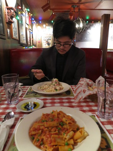 HAHA we ate at Bucca di Beppo bcuz all we could find were chain restaurants in this one stripmally part of downtown KC. but I mean, look at it. how could it have been bad.