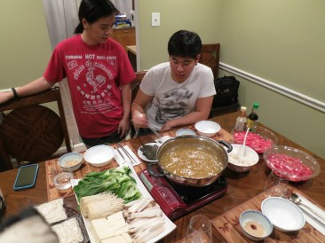 hot pot with Joe and Quyen, best hosts ever.