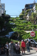 Lombard Street, the crookediest in America.