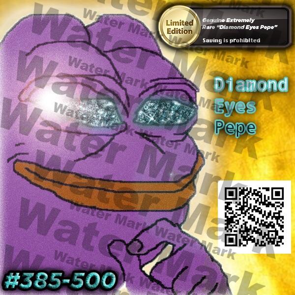 Diamond Eyes Pepe Underground Meme Market