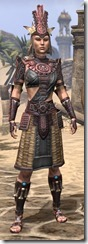 Elder Argonian Heavy - Female Front