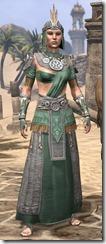 Elder Argonian Homespun - Female Robe Front