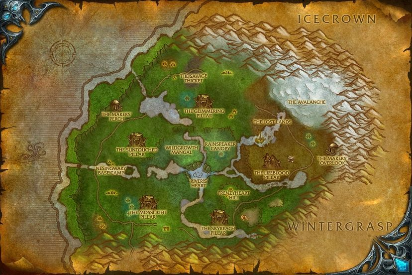 The Stormwrights Shelf Sholazar Basin Map World Of