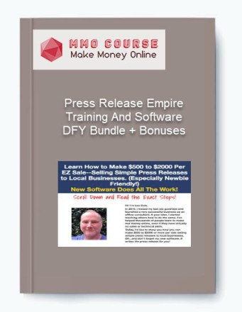[object object] Press Release Empire Training And Software DFY Bundle + Bonuses Press Release Empire Training And Software DFY Bundle Bonuses