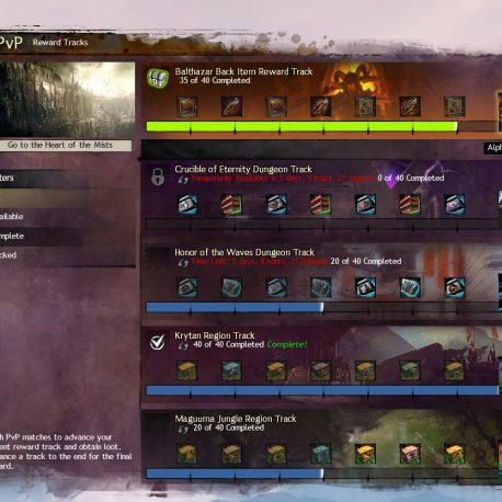 gw2 power level pvp reward track