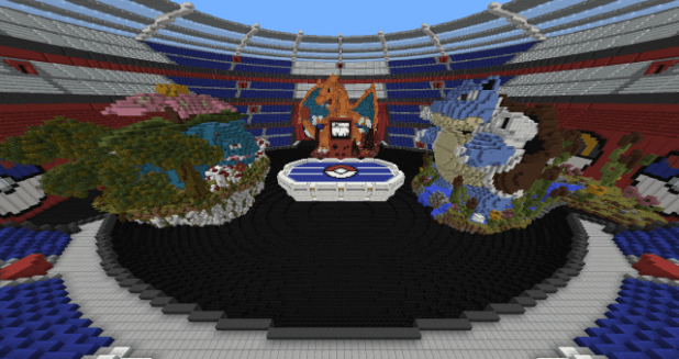 Download Pokémon Red Map for Minecraft 1.11.2 view (11137)