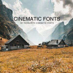 Cinematic Fonts