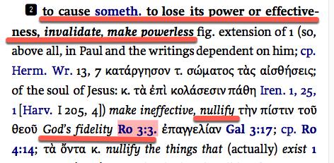 Romans 3:3 unbelief cannot nullify God's faithfulness