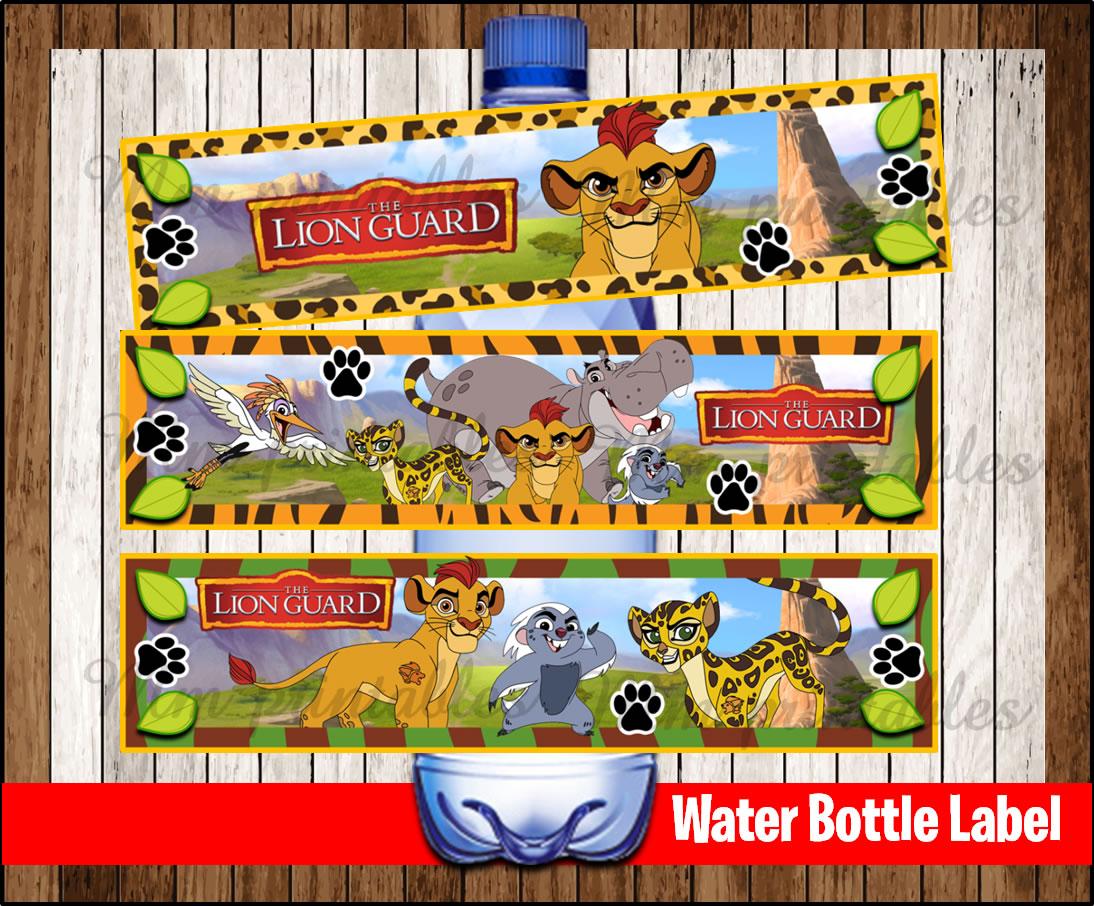 80 Off Sale The Lion Guard Water Bottle Label Instant