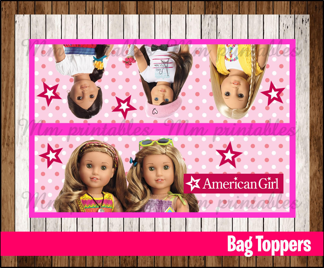 80 Off Sale American Girl Doll Party Toppers Instant