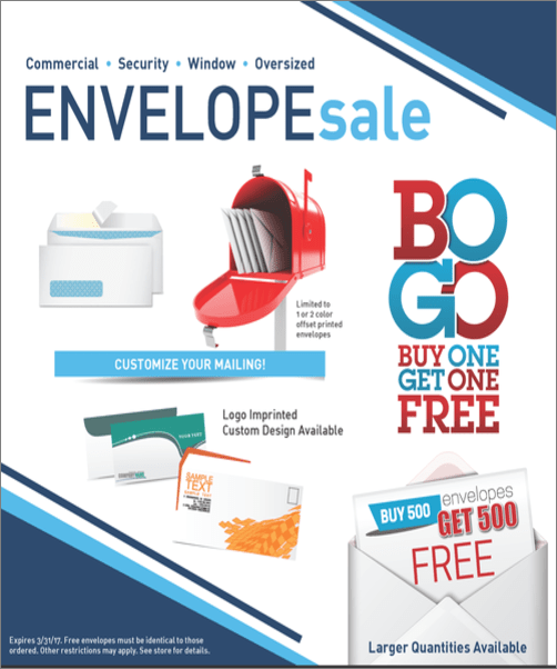 BOGO Envelope Sale