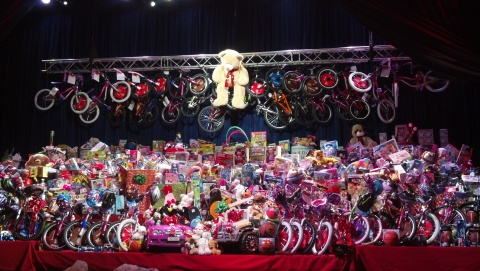 Viejas Casino & Resort raised 5,000 toys for the local Salvation Army in 2012 (pictured). The goal f ...