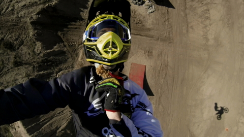 X Games gold medalist Bryce Hudson backflips on a motorcycle while eating KFC. This video is one of...