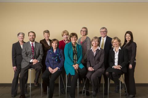 UnitedHealth Group Center for Nursing Advancement has formed its External Nurse Advisory Board. L to ...